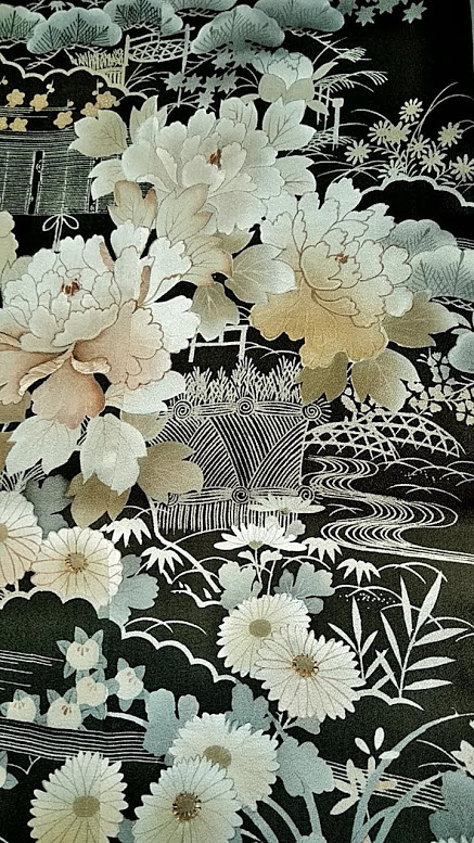 motif tomesode ancien kimono expo espace japon