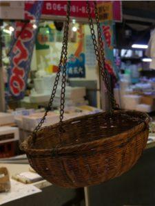 Panier en osier. Détail dans un marché ©Audrey Ronfaut