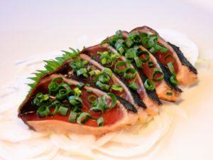 tatami mi-cuit bonite sashimi