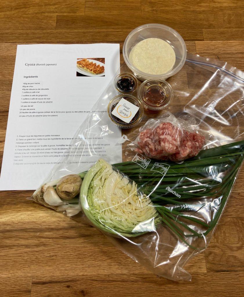 Cours de cuisine japonaise à distance